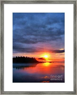 Down East Sunset Maine Framed Print by Edward Fielding