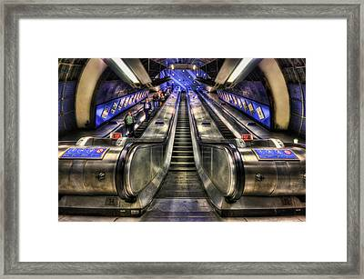Down From A Cloud. Up From The Underground. Framed Print