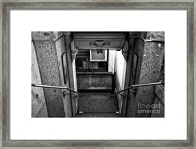 Down In Downtown Mono Framed Print
