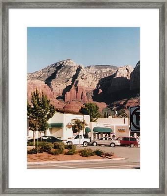 Down In Sedona Framed Print