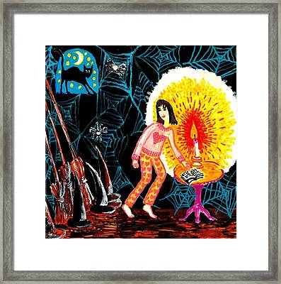 Down In The Cellar Framed Print by Sushila Burgess