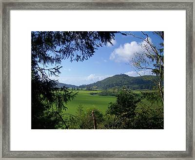 Framed Print featuring the photograph Down In The Valley by Angi Parks
