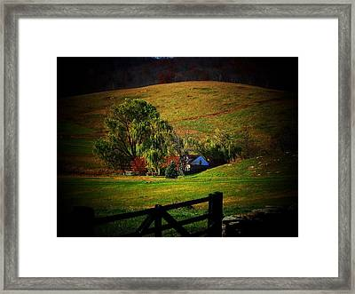 Down In The Valley Framed Print by Joyce Kimble Smith