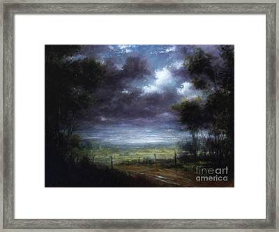 Down In To The Valley Framed Print