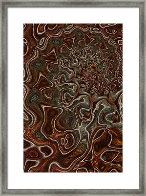 Down Framed Print by Jack Zulli