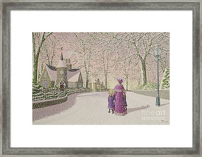 Down Lodge Lane Framed Print