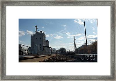 Down Low In The Tracks Near The Ol Mill   # Framed Print by Rob Luzier