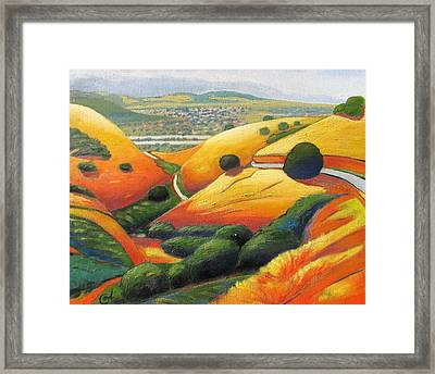 Framed Print featuring the painting Down Metcalf Road by Gary Coleman