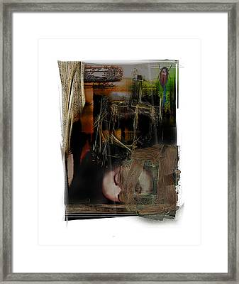 Down Framed Print by Nuff