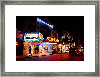 Down On Duval In Key West Framed Print by Susanne Van Hulst