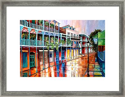 Down On Royal Street Framed Print by Diane Millsap