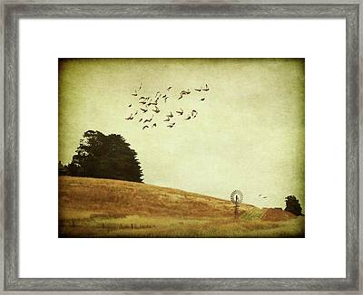Framed Print featuring the digital art Down On The Farm by Margaret Hormann Bfa