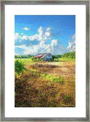 Down On The Farm Framed Print by Marvin Spates