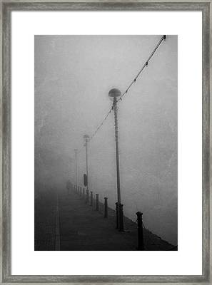 Down On The Waterfront. A Dark And Eerie Fine Art Photographic Print  Framed Print by Lee Thornberry