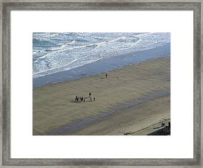 Down On Whitby Beach Framed Print