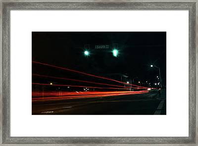 Down South Street Framed Print