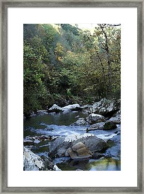 Down Stream Framed Print by Bj Hodges