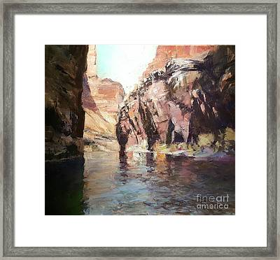 Down Stream On The Mighty Colorado River Framed Print
