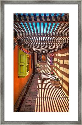 Down The Alley Framed Print by Gestalt Imagery