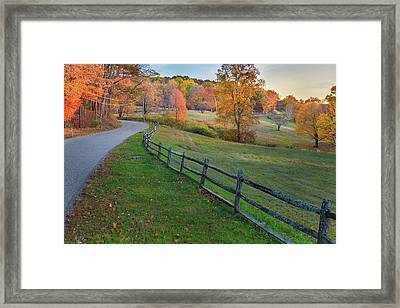 Down The Autumn Road 2016 Framed Print