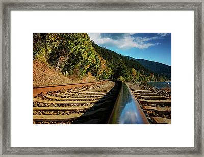 Down The Chukanut Line Framed Print