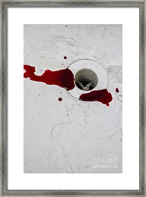 Down The Drain Framed Print by Margie Hurwich