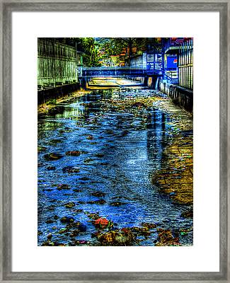 Down The Drain Framed Print by Sarita Rampersad