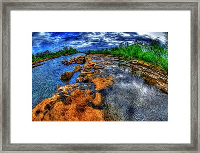 Down The Fall Framed Print
