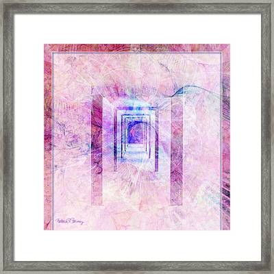 Down The Hall Framed Print