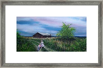 Down The Lane Framed Print by Bill Brown