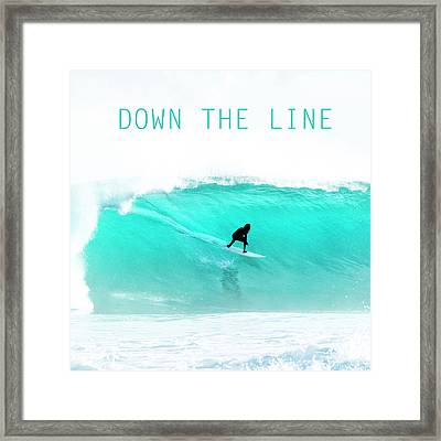 Down The Line. Framed Print