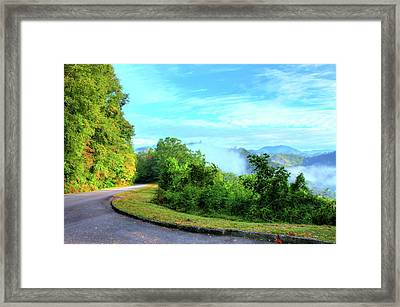 Down The Mountain Framed Print