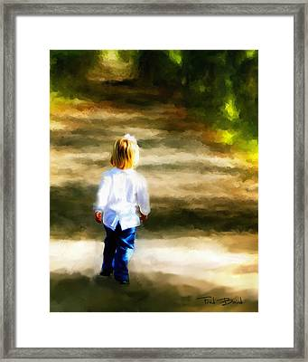 Down The Path Framed Print by Fred Baird