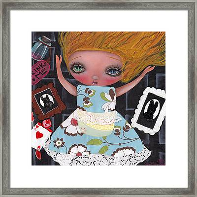 Down The  Rabbit Hole Framed Print by  Abril Andrade Griffith