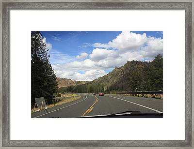 Down The Road Framed Print by Gregory Jeffries