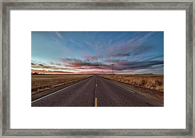Framed Print featuring the photograph Down The Road by Monte Stevens