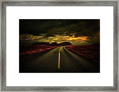Framed Print featuring the photograph Down The Road by Scott Mahon