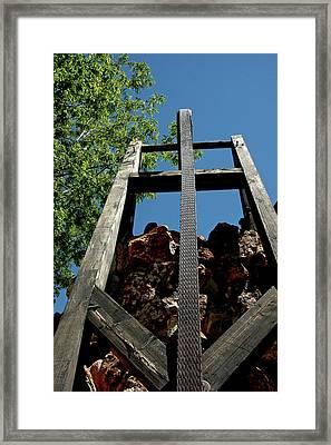 Down The Shaft Virginia City Nv Framed Print by LeeAnn McLaneGoetz McLaneGoetzStudioLLCcom