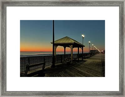 Down The Shore At Dawn Framed Print