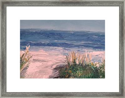 Down The Shore Framed Print by Eric  Schiabor