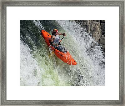 Down The Spout Framed Print