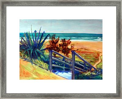 Down The Stairs To The Beach Framed Print