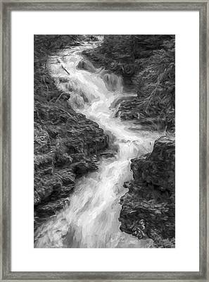 Down The Stream II Framed Print