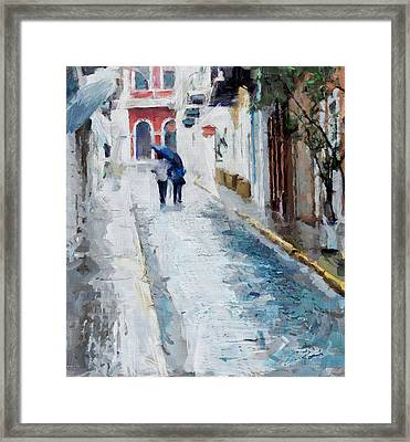 Down The Street Framed Print