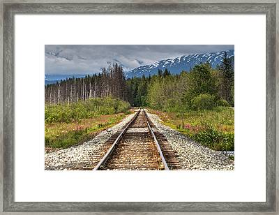 Down The Tracks Framed Print