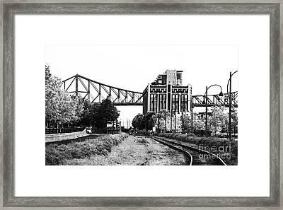 Down The Tracks Framed Print by John Rizzuto