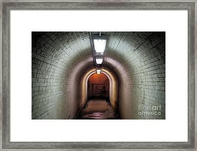 Down The Tunnel Framed Print