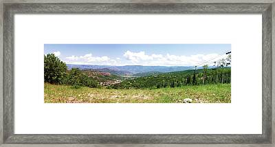 Down The Valley At Snowmass #2 Framed Print by Jerry Battle