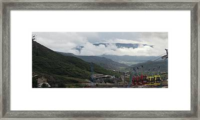 Down The Valley At Snowmass #3 Framed Print