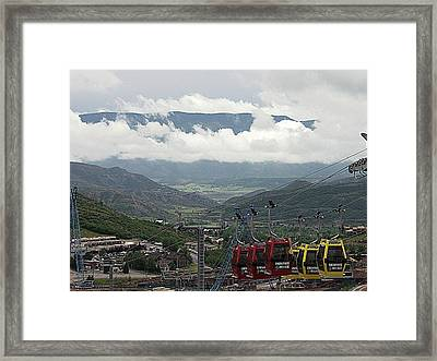 Down The Valley At Snowmass Framed Print by Jerry Battle